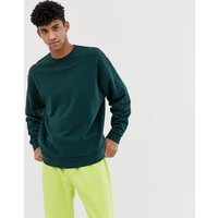 ASOS DESIGN oversized sweatshirt in dark green - Cactus