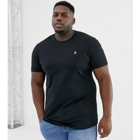 Original Penguin Big & Tall icon logo t-shirt in black - True black