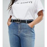 Cinturón para cintura y cadera con detalle de dos círculos de ASOS DESIGN Curve