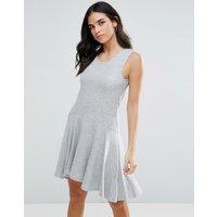 LiquorishLiquorish Jersey A Line Dress - Grey