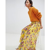 French Connection Floral Wrap Maxi Skirt - Citrus