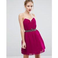 Little MistressLittle Mistress Embellished Prom Dress - Pink