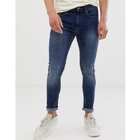 Burton Menswear super skinny jeans in mid wash blue - Mid blue