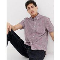 Ben Sherman short sleeved gingham shirt - Red-550