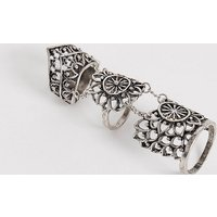 Reclaimed Vintage inspired articulated chunky ring in silver exclusive to ASOS - Silver