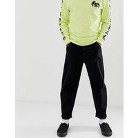 Brooklyn Supply Co cropped wide leg trousers in black - Black
