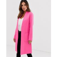 Helene Berman Edge To Edge Duster Coat In Neon Jacquared
