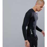 Skins long sleeve top in black - Black