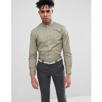 French Connection Grandad Long Sleeve Shirt - Lgt khaki