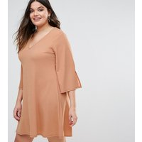 Pink ClovePink Clove Fluted Sleeve Shift Dress - Pink