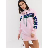 House of Holland ground breaking oversized 2-way sweatshirt dress - Pink