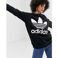 adidas Originals oversized trefoil sweater in black - Black