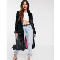 Helene Berman Suki faux fur collarless coat - Black 99