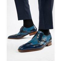 Jeffery West Capone brogue shoes in blue - Blue