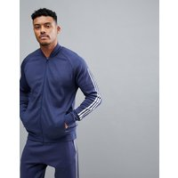 Adidas Athletics Knitted Bomber In Navy Cw1405 - Navy