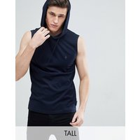 French Connection Tall Sleeveless Hoodie - Marine