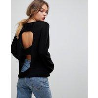H.One Light Wool Blend Knit Jumper - Black
