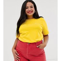 Daisy Street Plus t-shirt with sunshine print - Yellow