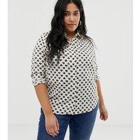 Brave Soul Plus heart print shirt - White