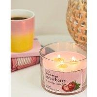 Baylis & Harding beauticology strawberry & pomegranate 3 wick candle - Pink