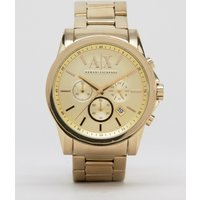 Armani Exchange Ax2099 Chronograph Gold Stainless Steel Strap Watch - Gold