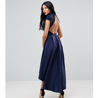 Chi Chi London Tall High Low Midi Dress With Open Back