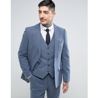 Harry Brown Slim Fit Donegal Nep Suit Jacket - Blue