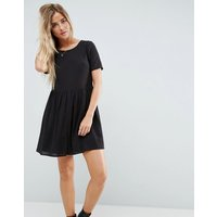 ASOSASOS Casual Mini Smock Dress in Grid Texture - Black