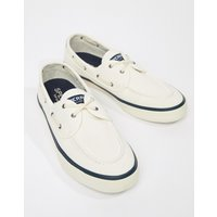 Sperry Topsider Sneaker Boat Shoes In White - White