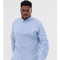 River Island Big & Tall light blue oxford shirt - Blue