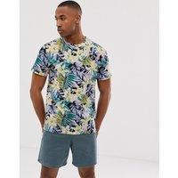 Urban Threads t-shirt in lily print - Peach