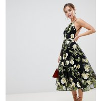 ASOS EDITION Petite halter neck embroidered midi dress