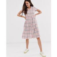 Daisy Street midi dress in check - Pink check