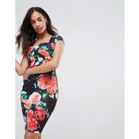 Vestido ajustado con diseño floral de Jessica Wright