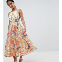 ASOS EDITION Petite halter neck embroidered prom dress - Multi