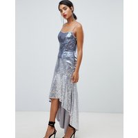 Chi Chi London sequin embellished cami strap midi dress with fluted hem