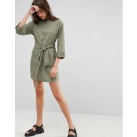 ASOSASOS Casual Tie Waist Mini Dress - Khaki
