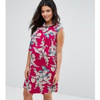ASOS Maternity - NursingASOS Maternity NURSING Floral Print Frill Double Layer Dress - Red base