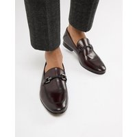 Base London Soprano Bar Loafers In Bordo - Red