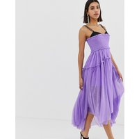 ASOS EDITION tulle dip back maxi dress with chain straps