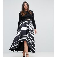 Coast Plus Striped Maxi Skirt - Mono