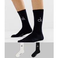 Calvin Klein 2 pack logo crew socks - Multi