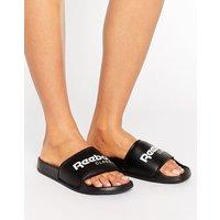 Sandalias negras clásicas con logo de Reebok