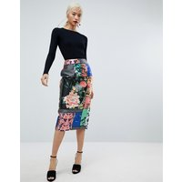 ASOS Pencil Skirt in Delicate Floral Print - Multi