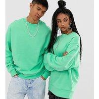 COLLUSION Unisex sweatshirt in green - Green