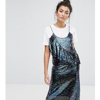 Mad But MagicMad But Magic Sequin Cami Dress With Frill - Purple