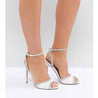 Sandalias de tacón de novia con corte ancho y adornos HITCHED de ASOS