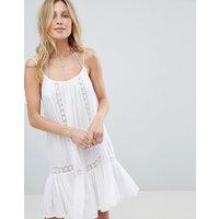 Accessorize Lace Insert Strappy Beach Dress - White