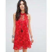 Free PeopleFree People Snowrop Trapeze Lace Party Dress - Firey red
