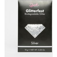 Sleek MakeUP Glitterfest Biodegradable Glitter - Silver - Silver